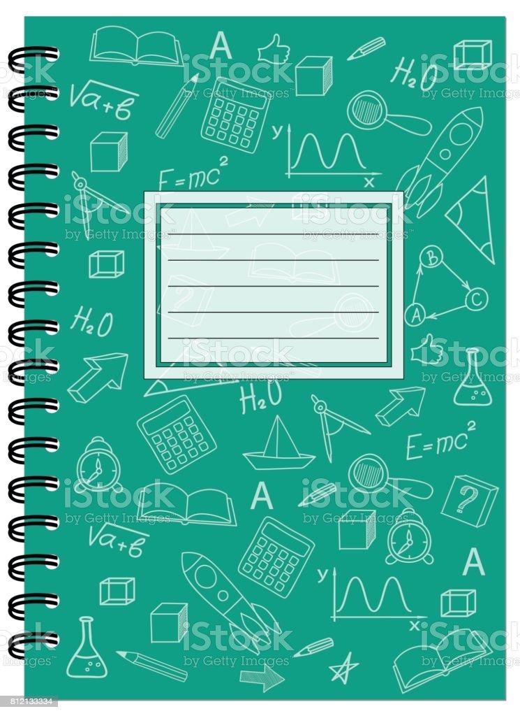 School Notebook Cover Design : A cover design schulheft mit spirale stock vektor art und