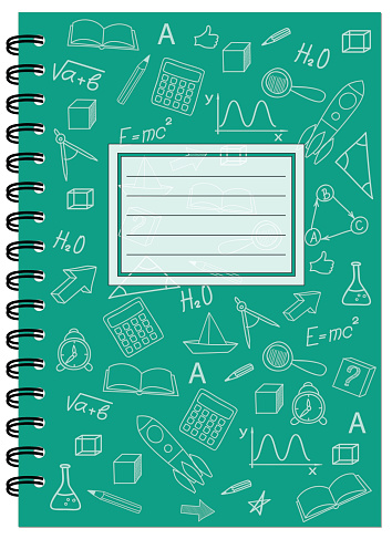 A5 cover design school notebook with spiral