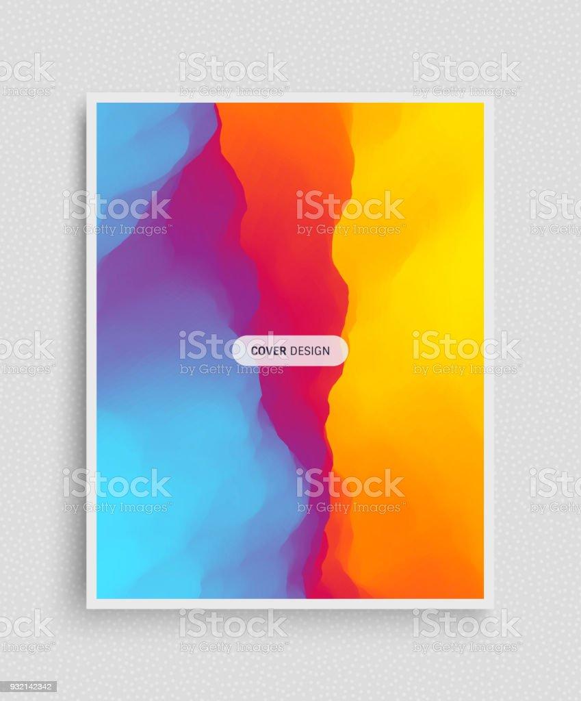 Coverdesignvorlage Zusammenfassung Hintergrund Moderne Muster