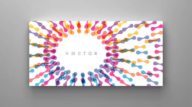 Cover design template. Abstract background with dynamic effect. Motion vector Illustration for business card, banner or presentation. vector art illustration