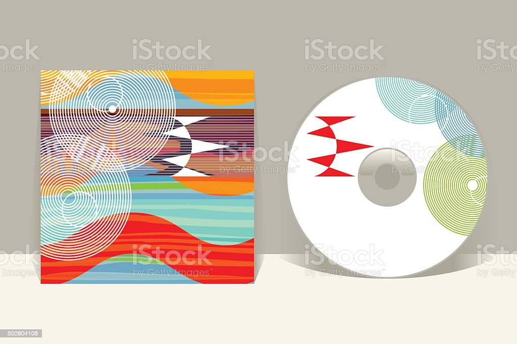 CD cover design template. Abstract pattern graphics. Editable design template vector art illustration
