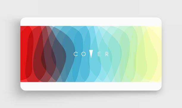 Cover design template. Abstract wavy background with dynamic effect. 3d vector illustration for brochure, banner, flyer or presentation. vector art illustration