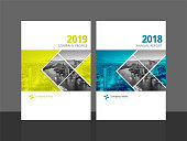 Cover design template corporate business annual report brochure poster company profile catalog magazine flyer booklet leaflet. Cover page design element A4 sample image with Gradient Mesh.