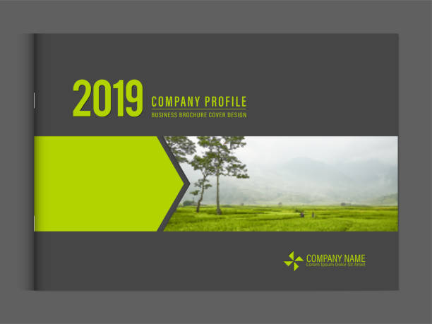 cover design template corporate business annual report brochure poster company profile catalog magazine flyer booklet leaflet. landscape cover page design element sample image with gradient mesh. - annual reports templates stock illustrations