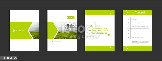 istock Cover design template corporate business annual report brochure poster company profile catalog magazine flyer booklet leaflet. Cover page design element A4 sample image with Gradient Mesh. 1178505120