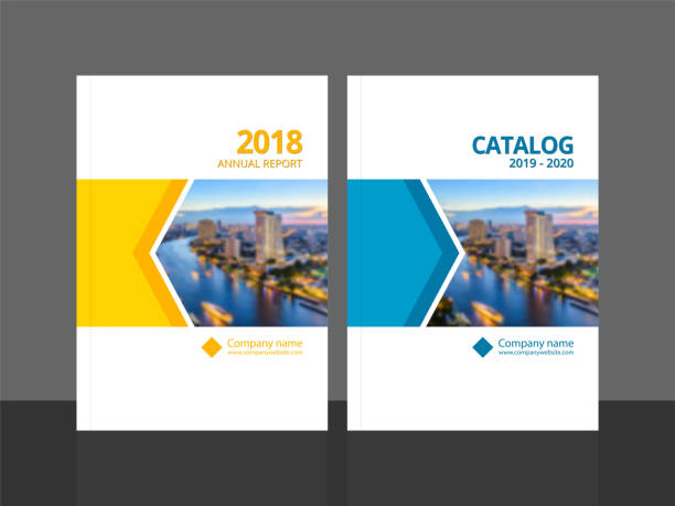 cover design template corporate business annual report brochure poster company profile catalog magazine flyer booklet leaflet. cover page design element a4 sample image with gradient mesh. - brochure templates stock illustrations, clip art, cartoons, & icons