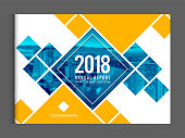 Cover design template corporate business annual report brochure poster company profile catalog magazine flyer booklet leaflet. Landscape cover page design element sample image with Gradient Mesh.