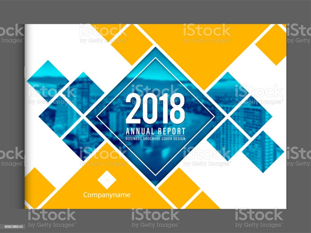 Cover design template corporate business annual report brochure poster company profile catalog magazine flyer booklet leaflet. Landscape cover page design element sample image with Gradient Mesh. vector art illustration