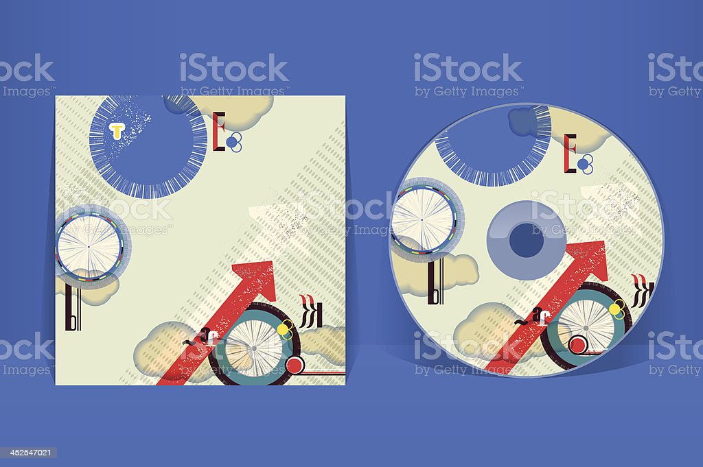 Cd Cover Design Template Eps 10 Vector Transparencies Used Stock