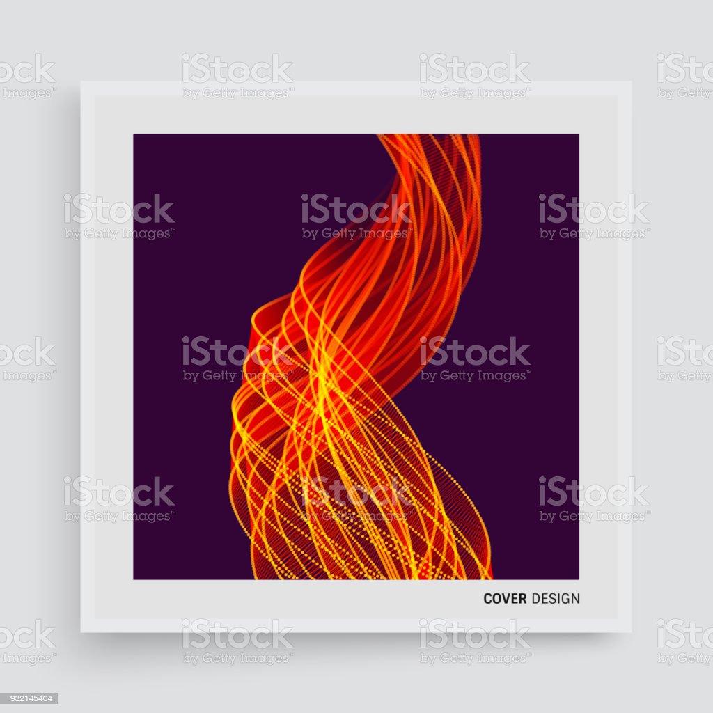 Cubrir La Plantilla De Diseño Fondo De Fuego De Llama Para El ...