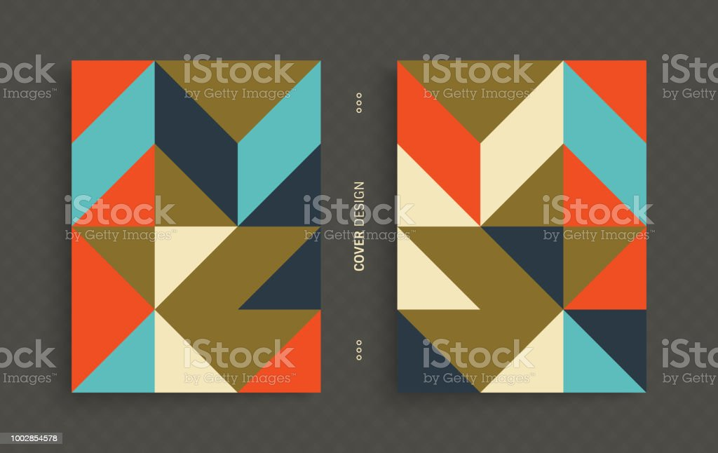Cover design template for advertising. Abstract colorful geometric design. Pattern can be used as a template for brochure, annual report, magazine, poster, presentation, flyer and banner. - Royalty-free Abstrato arte vetorial