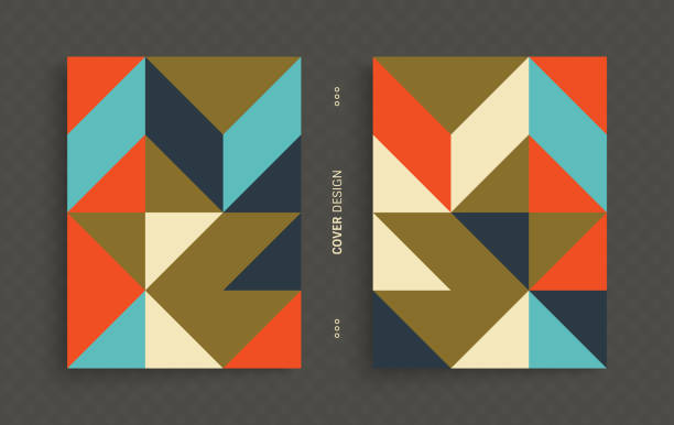 cover design template for advertising. abstract colorful geometric design. pattern can be used as a template for brochure, annual report, magazine, poster, presentation, flyer and banner. - modern art stock illustrations