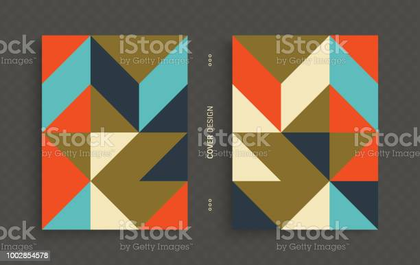 Cover Design Template For Advertising Abstract Colorful Geometric Design Pattern Can Be Used As A Template For Brochure Annual Report Magazine Poster Presentation Flyer And Banner - Arte vetorial de stock e mais imagens de Abstrato