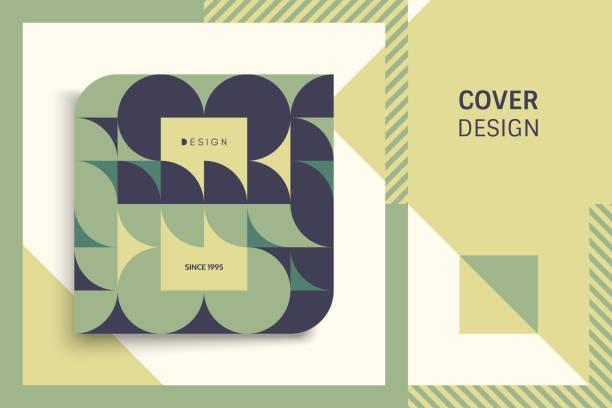 bildbanksillustrationer, clip art samt tecknat material och ikoner med cover designmall för reklam. abstrakt färgglada geometriska design. mönster kan användas som mall för broschyr, årsredovisning, magazine, affisch, presentation, flyer och banner. - konststilar