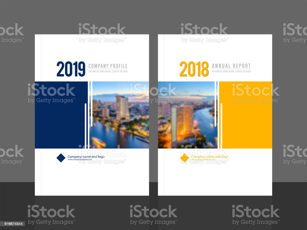 cover design template for annual report and company