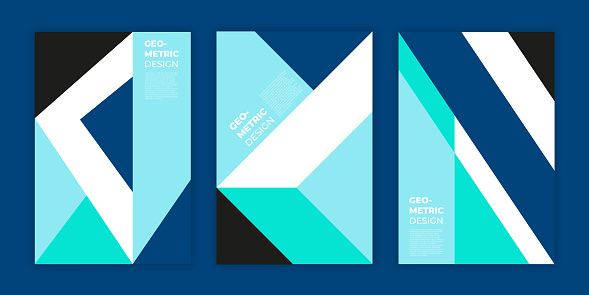 Cover Design Template - Geometric Minimalism Collection