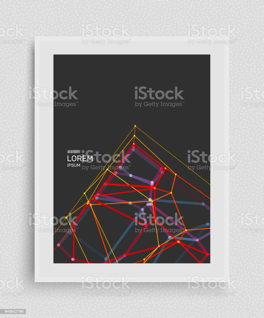 Cover Design Template Lattice Structure Science Or Technology ...