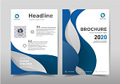 Abstract curve design on background.Brochure template layout,cover design,annual report,magazine,leaflet,presentation background,flyer design.and booklet in A4 with Vector Illustration.