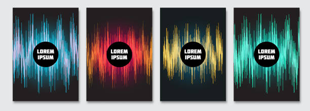 cover-design-vorlage. - edm stock-grafiken, -clipart, -cartoons und -symbole