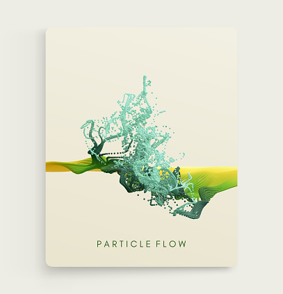 Cover design template. Water splash imitation. Abstract background. 3d vector illustration.