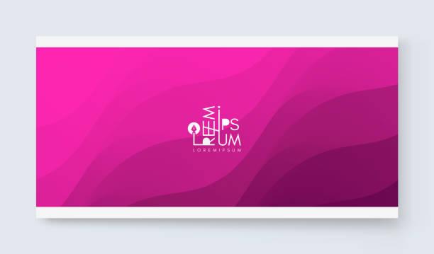 illustrazioni stock, clip art, cartoni animati e icone di tendenza di cover design template with color gradients. abstract background. modern pattern. 3d vector illustration for advertising, marketing, presentation. - magenta