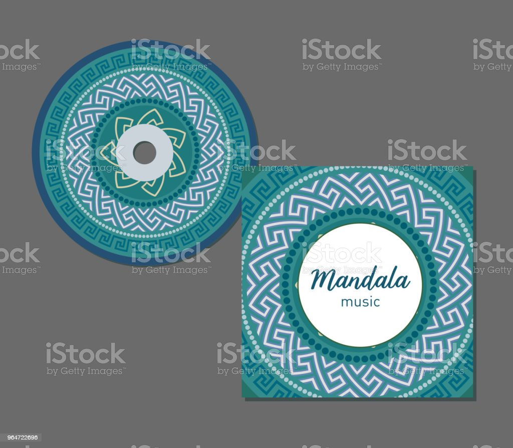 CD cover design template with Greek circular pattern style. Arabic, indian, pakistan, asian motif. Vector illustration. royalty-free cd cover design template with greek circular pattern style arabic indian pakistan asian motif vector illustration stock vector art & more images of abstract