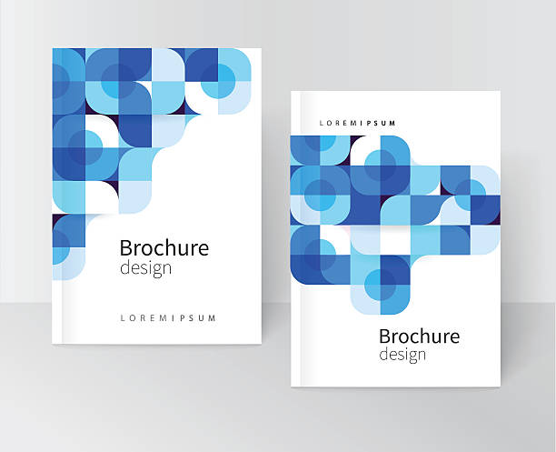 cover design - blue drawings stock illustrations