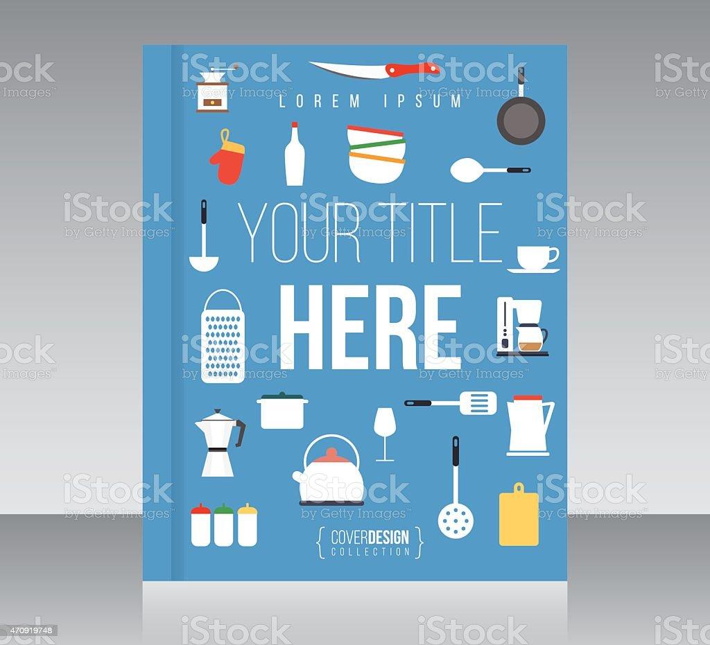 Cover design vector template, minimal style vector art illustration