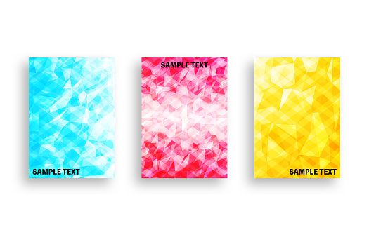 Cover design with glittery gem-style abstracts
