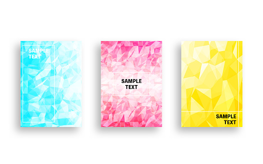 Cover design with transparent polygon-like abstracts