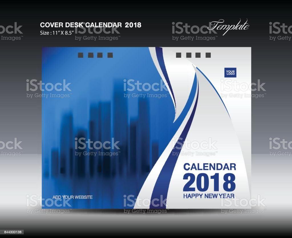 Art Calendar Business Magazine : Cover desk calendar year template horizontal paper