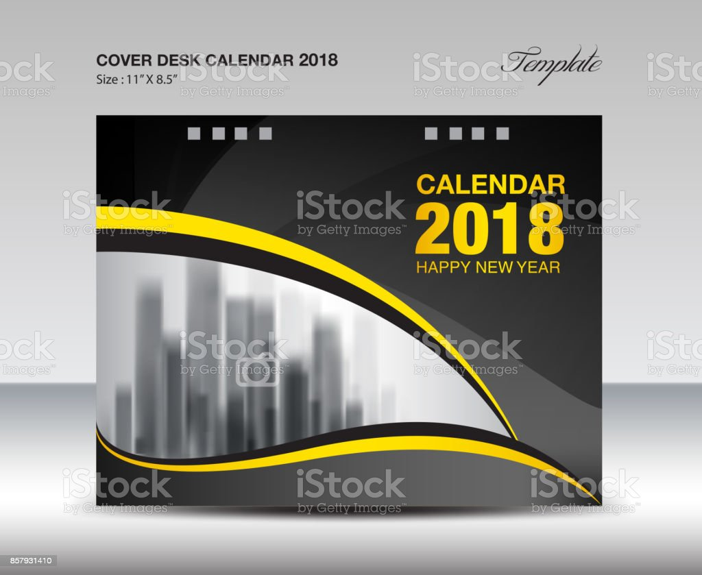 Cover desk calendar 2018 year template horizontal paper business cover desk calendar 2018 year template horizontal paper business brochure flyer layout cover spiritdancerdesigns Image collections