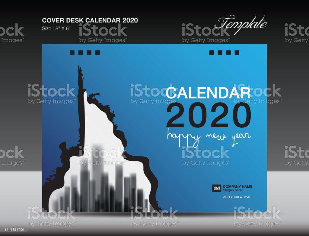 Cover Desk Calendar 2020 Design Flyer Template Ads Booklet Catalog