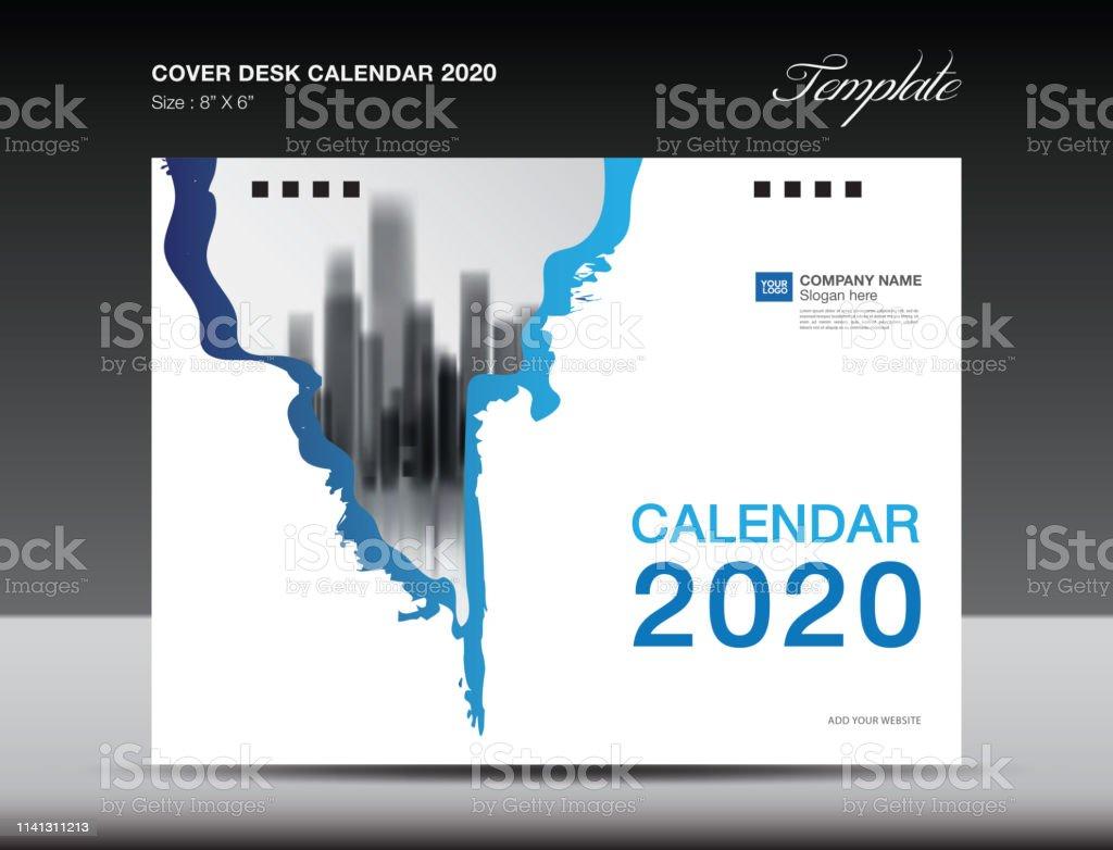 Ilustración de Portada Calendario 2020 Diseño Plantilla De Volante
