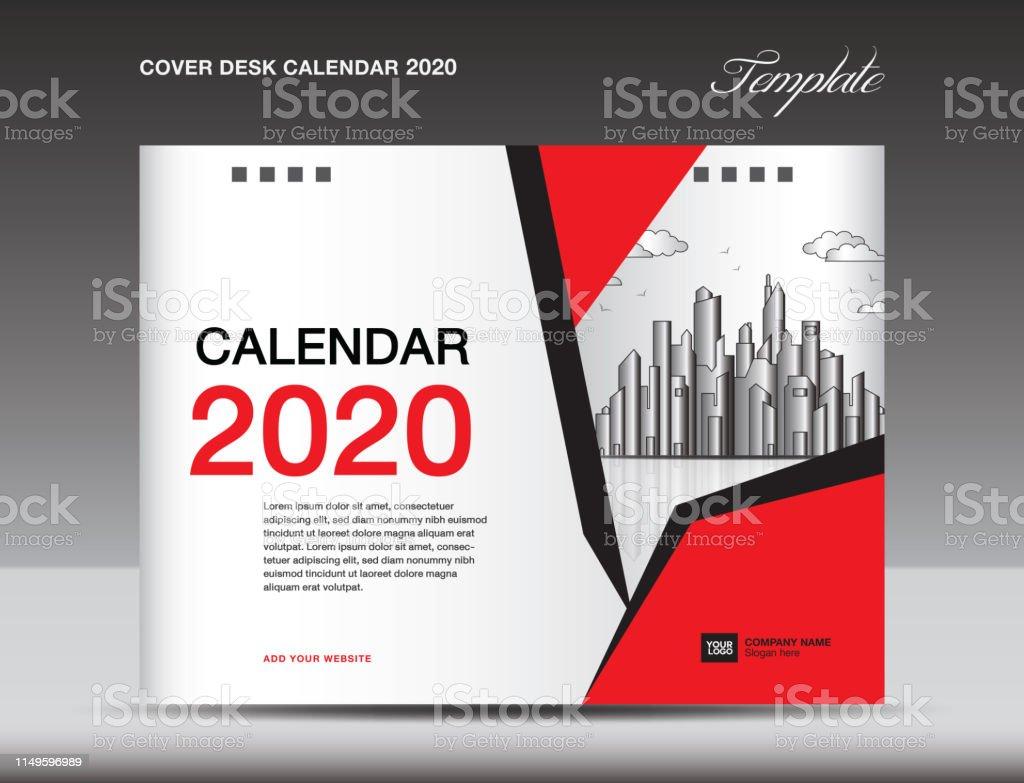 Cover Desk Calendar 2020 Design Flyer Template Ads Booklet