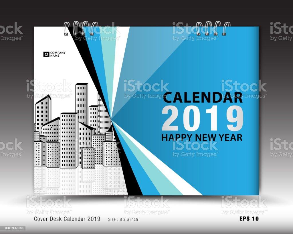 Ilustración de Calendario De Escritorio Cubierta Para Vector De ...