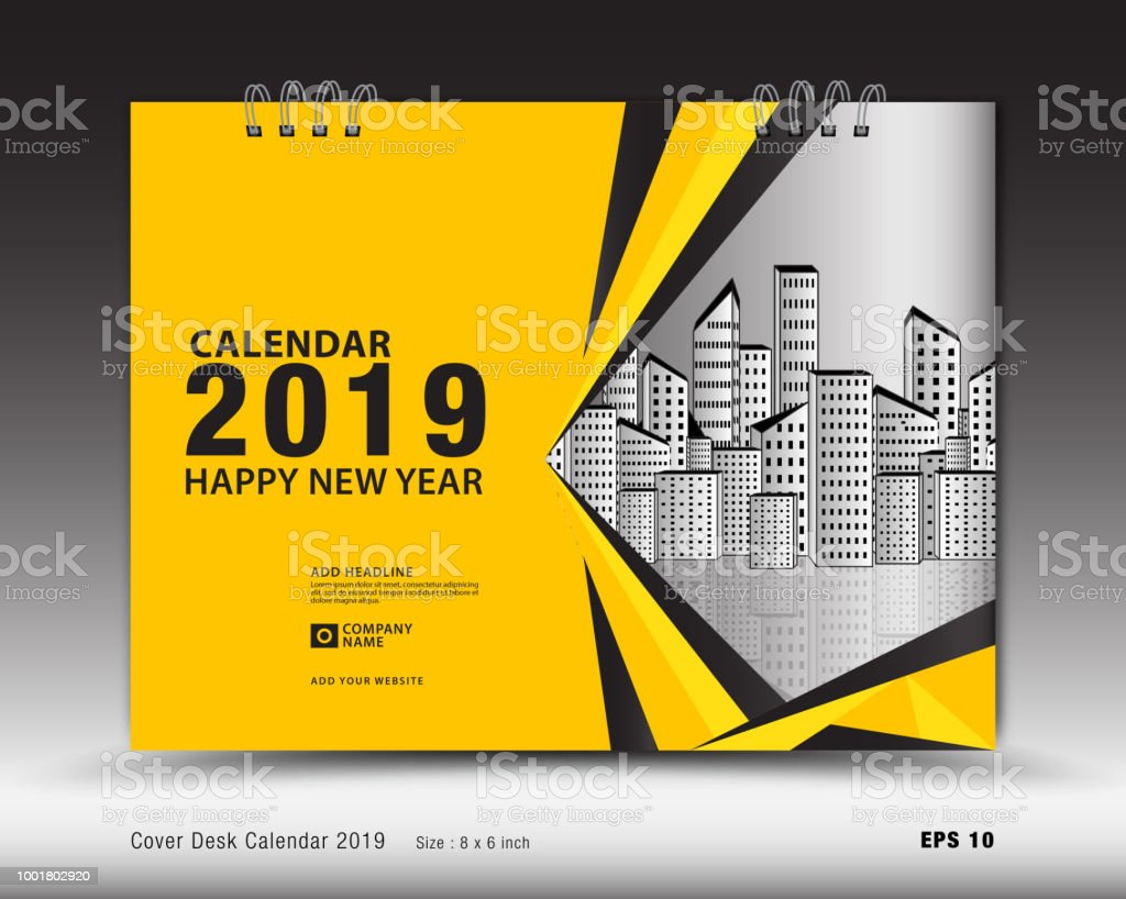 Art Calendar Business Magazine : Cover desk calendar for year template vector book