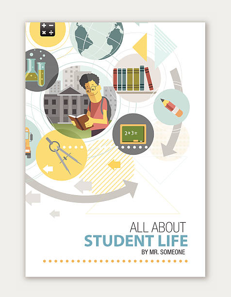 Cover for educational institute vector art illustration