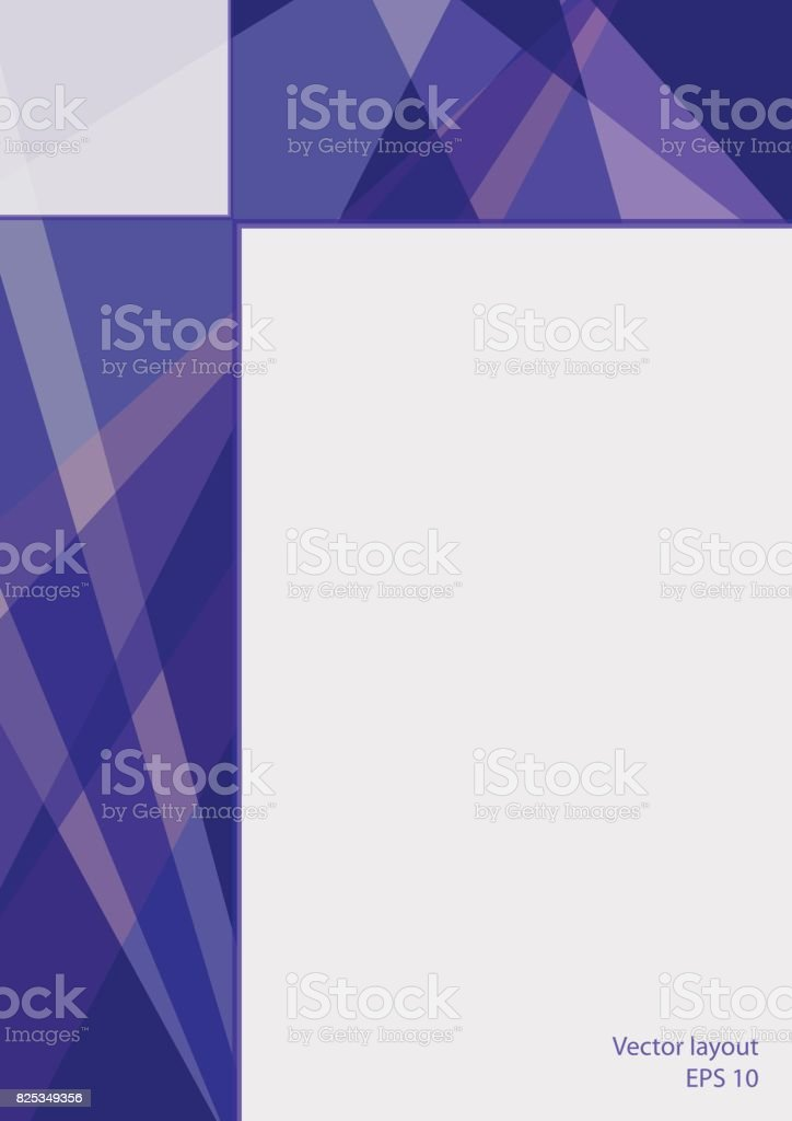 Cover layout with text place, technology design. Abstract geometric dark blue background. Modern template for brochures, books, leaflets, booklets, posters, flyers, portfolio, annual reports. EPS10 vector illustration, size A4 vector art illustration