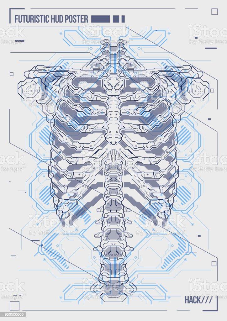 Ilustración de Portada O Cartel Diseño Cuerpo Humano Con Elementos ...