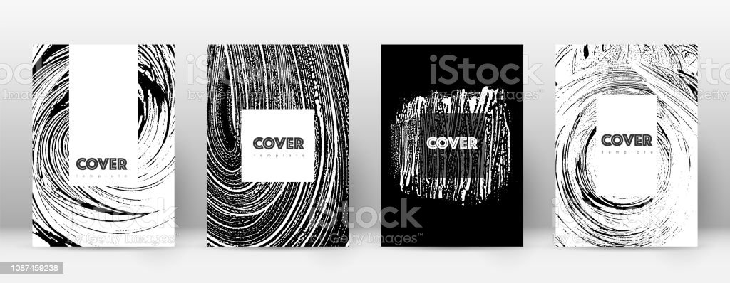 Cover page design template. Hipster brochure layou vector art illustration
