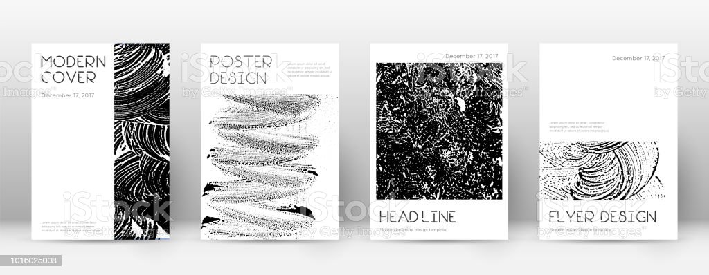 Cover page design template. Minimal brochure layout. Captivating trendy abstract cover page. Black a vector art illustration