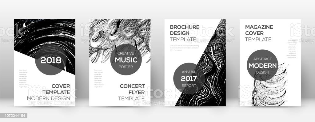 Cover page design template. Modern brochure layout vector art illustration