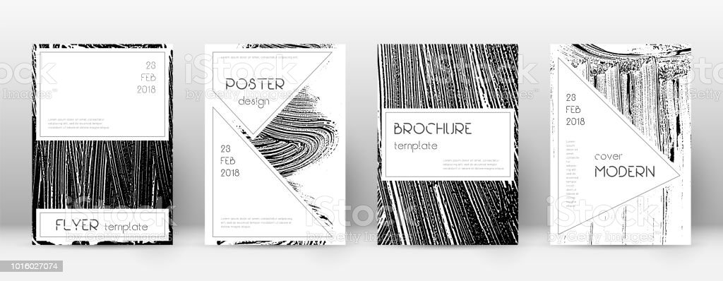 Cover page design template. Stylish brochure layout. Creative trendy abstract cover page. Black and vector art illustration