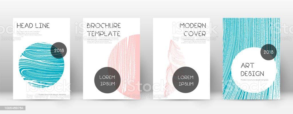 ページ デザインのテンプレートをカバーしますトレンディなパンフレット