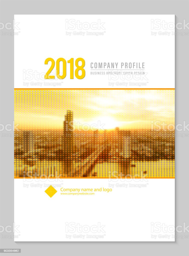 Cover Template Corporate Design For Company Profile Annual Report