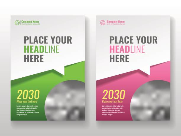 cover template for books, magazine, brochures, corporate presentations. - flyers templates stock illustrations