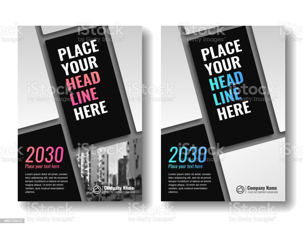 Vorlage Für Bücher Magazine Broschüren Firmenpräsentationen Zu ...