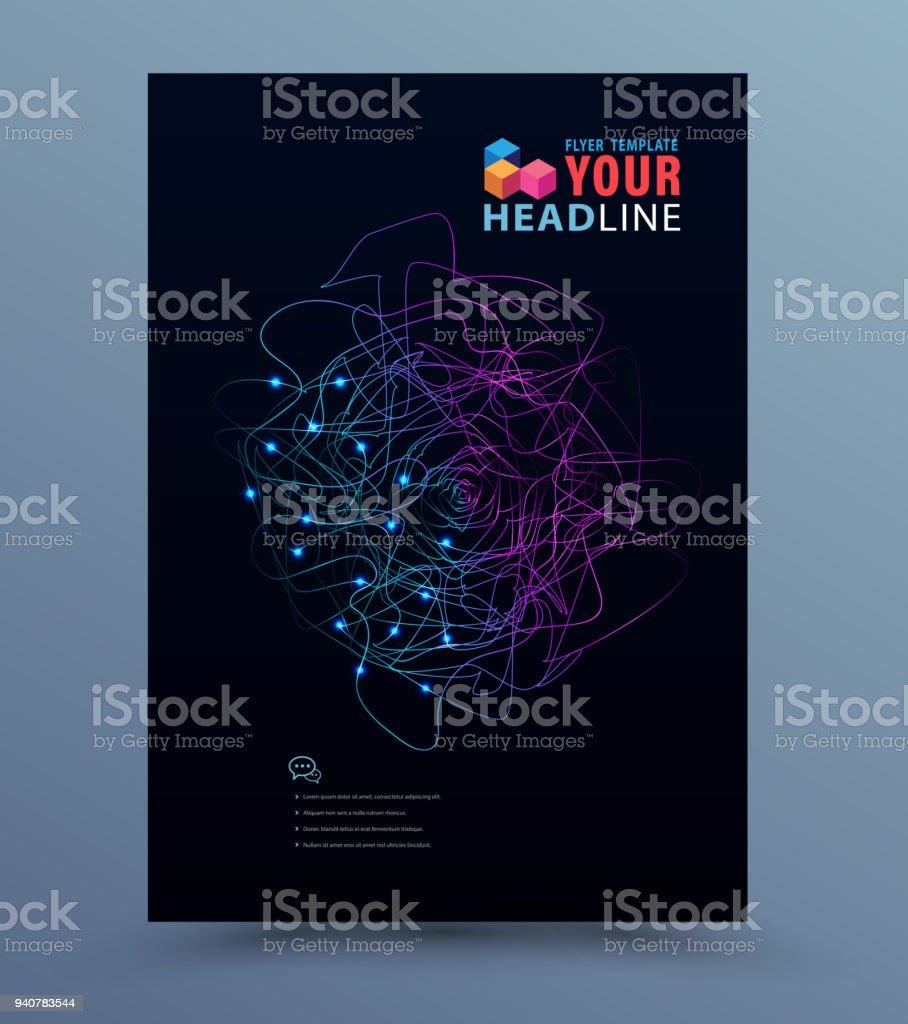 Cover template technology vector art illustration