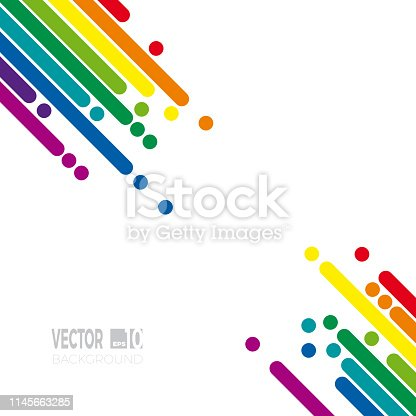 Cover with copy space for text. Abstract spring vector background. Rainbow template for your project